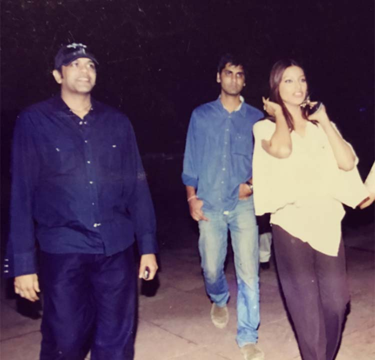 Bipasha Basu with director Vishal Mull and fashion designer Rocky Star