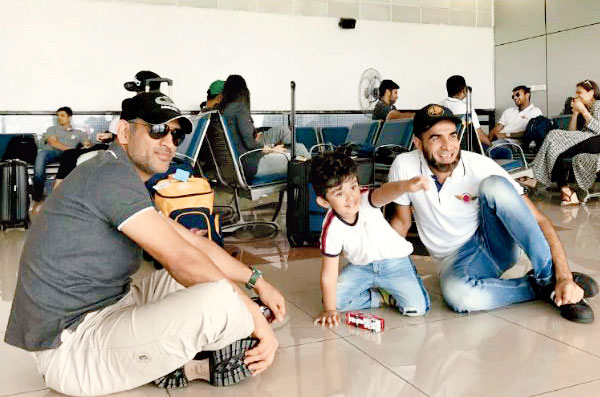 Team India in Chennai Airport