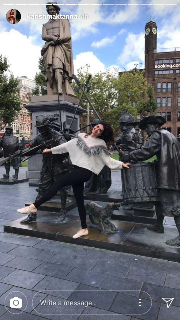 Karishma Tanna is enjoying her time in Amsterdam