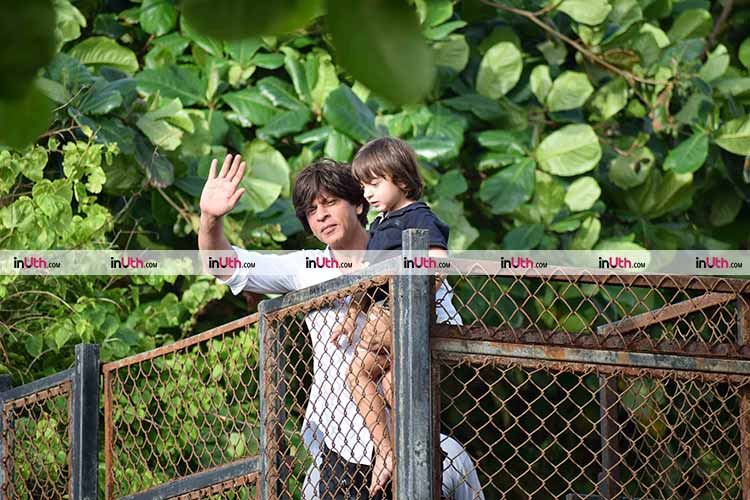 Shah Rukh Khan and AbRam's Eid greetings