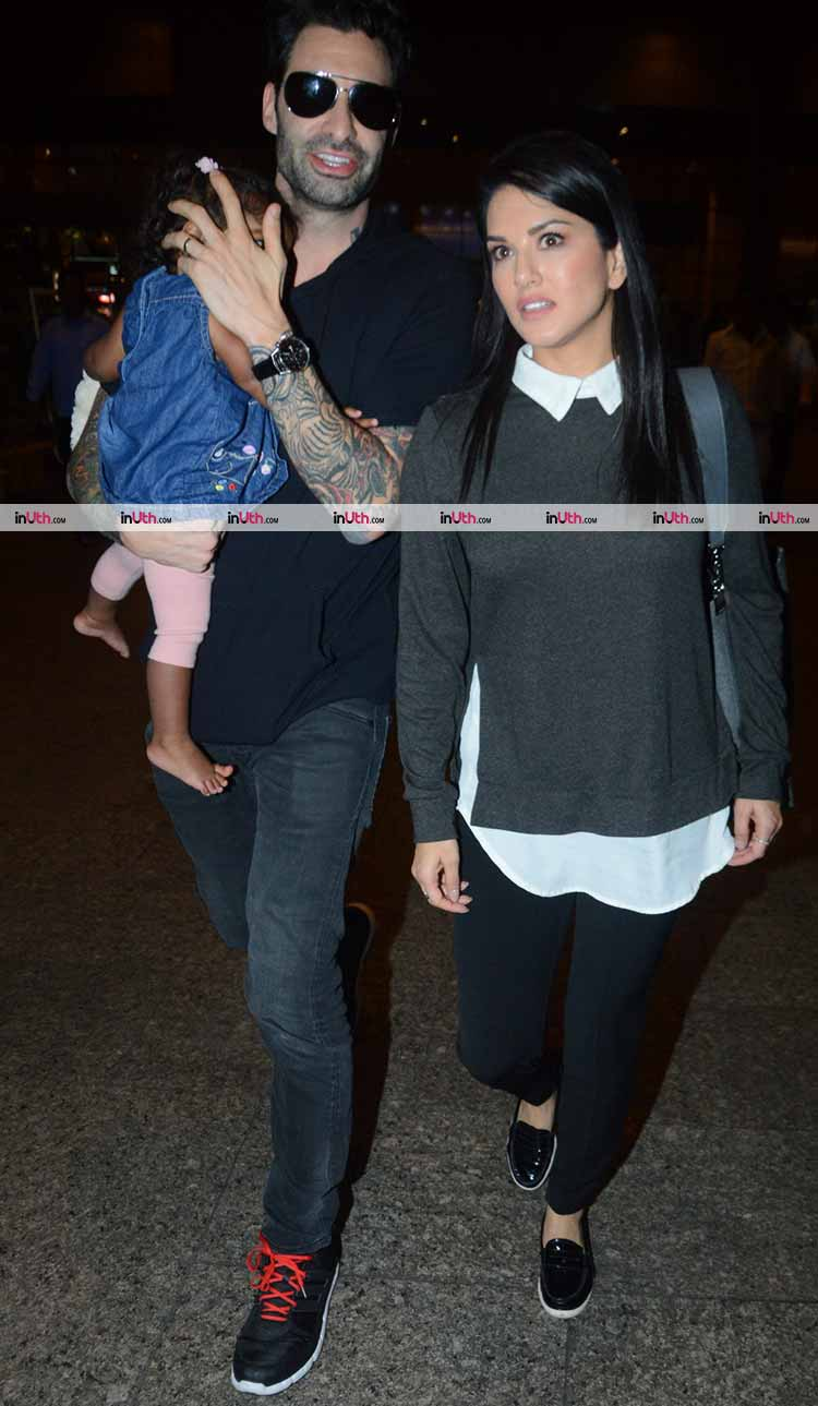 Sunny Leone and Daniel Weber with daughter Nisha