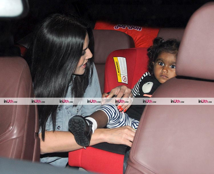 Sunny Leone snapped with her little princess Nisha