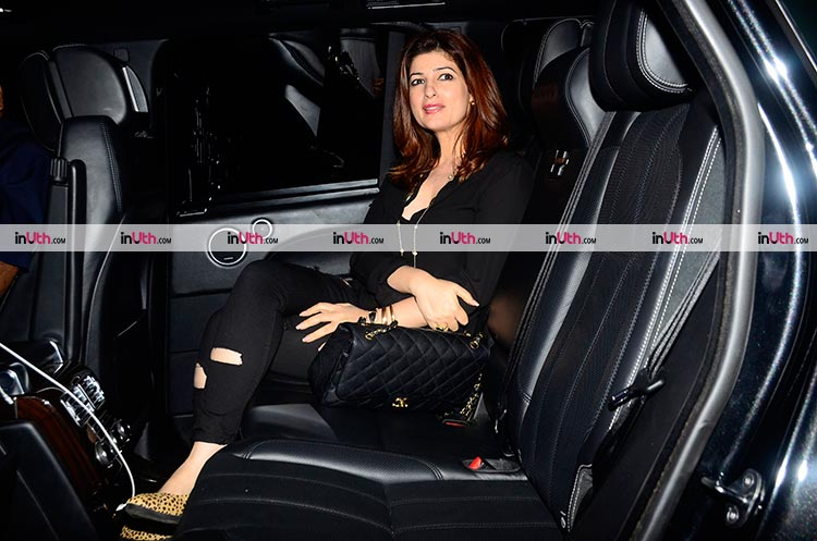Twinkle Khanna snapped after a dinner date with husband Akshay Kumar