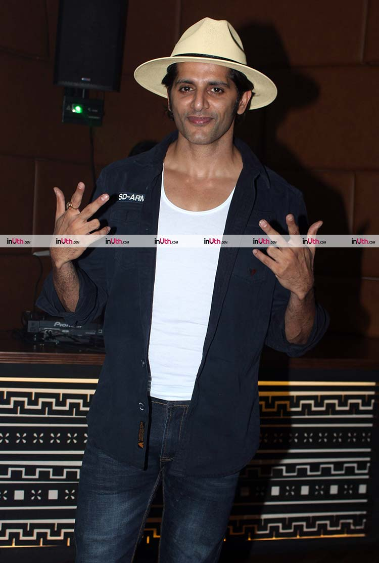 Karanvir Bohra at Sargun Mehta's birthday party