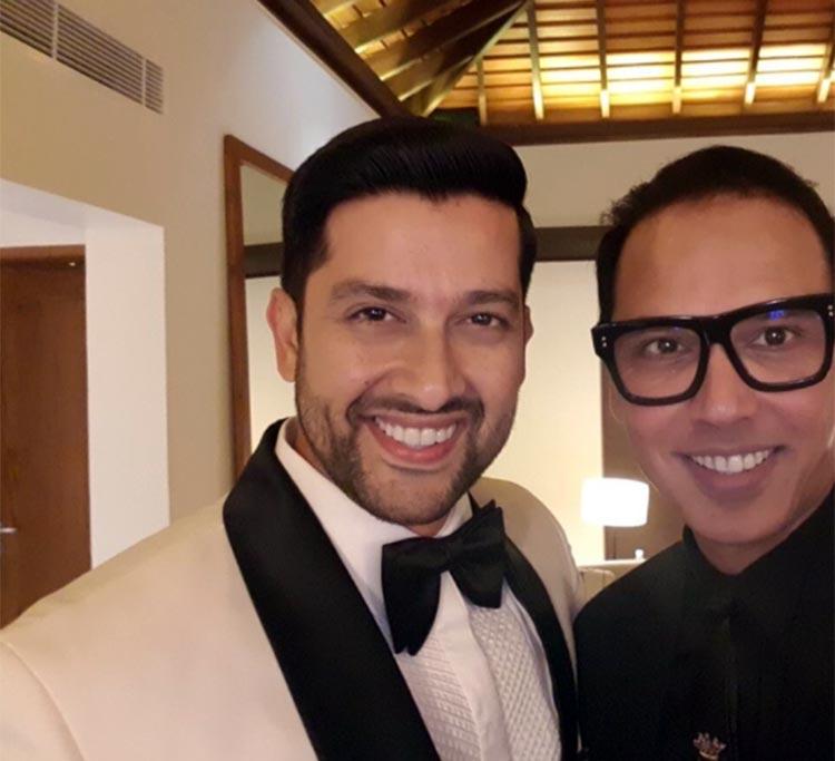 Aftab Shivdasani with Troy Costa