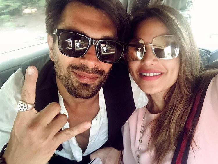 Bipasha Basu and Karan Singh Grover on their way back from Goa