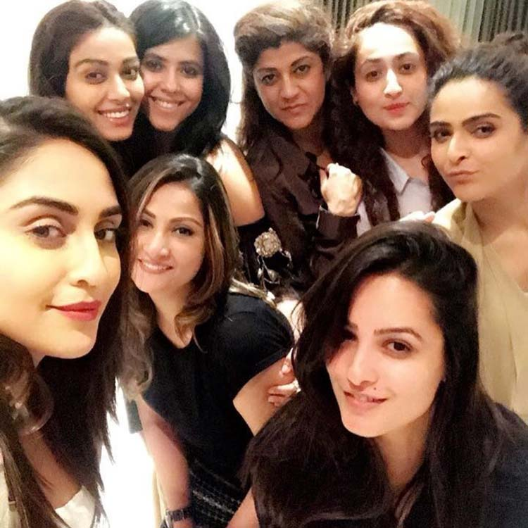 Ekta Kapoor and her clan of girls partying together