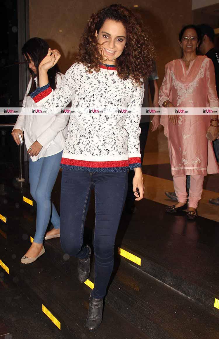 Kangana Ranaut spotted in Mumbai with family