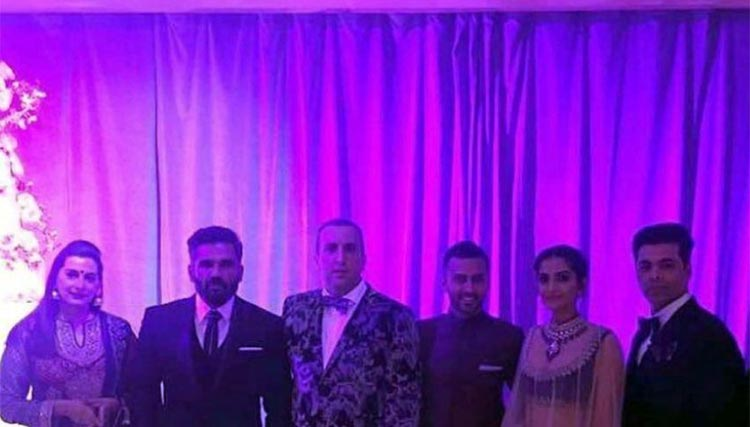 Karan Johar and Sunil Shetty also joined Sonam Kapoor at the party