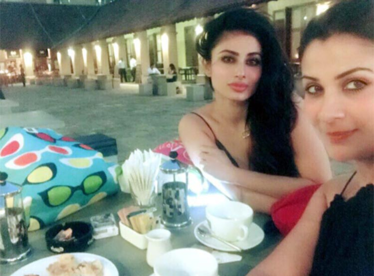 Mouni Roy waiting for her meal in Sri Lanka