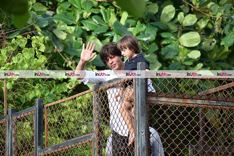 Shah Rukh Khan with son AbRam Khan on Eid