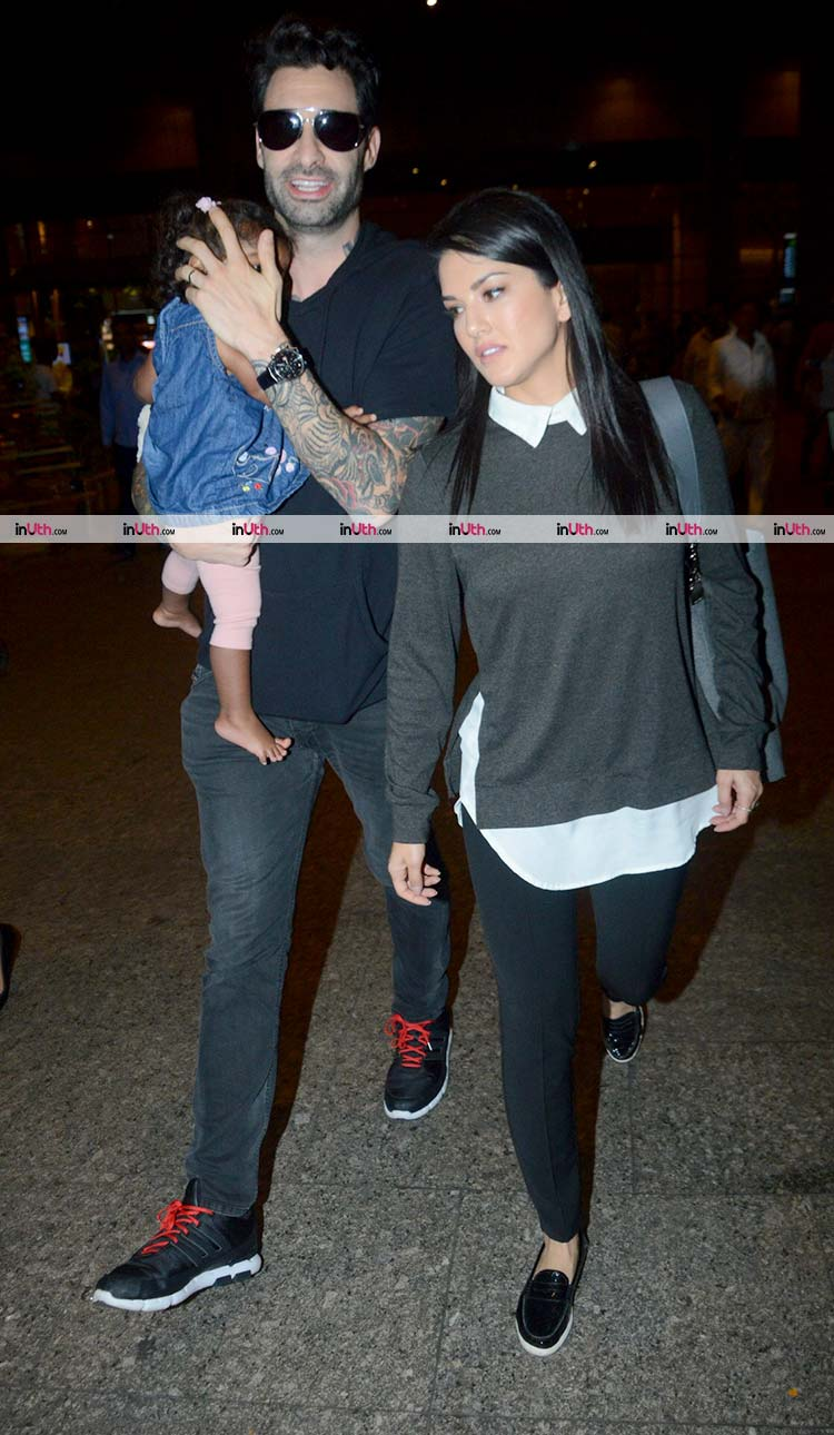 Sunny Leone and Daniel Weber are trying to hide Nisha from the cameras