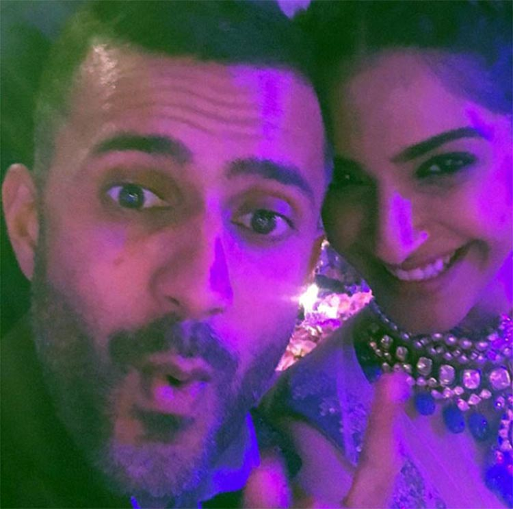 Anand Ahuja and Sonam Kapoor at Anooshe Mussarat's party