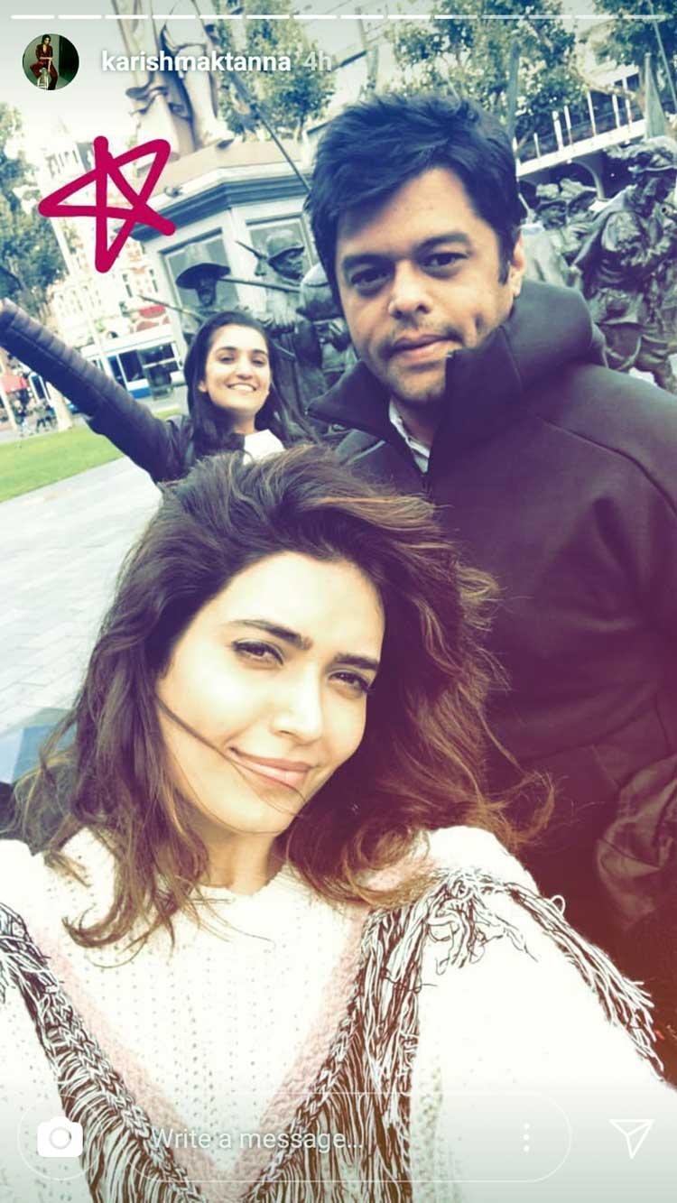 Karishma Tanna in Amsterdam with her friends