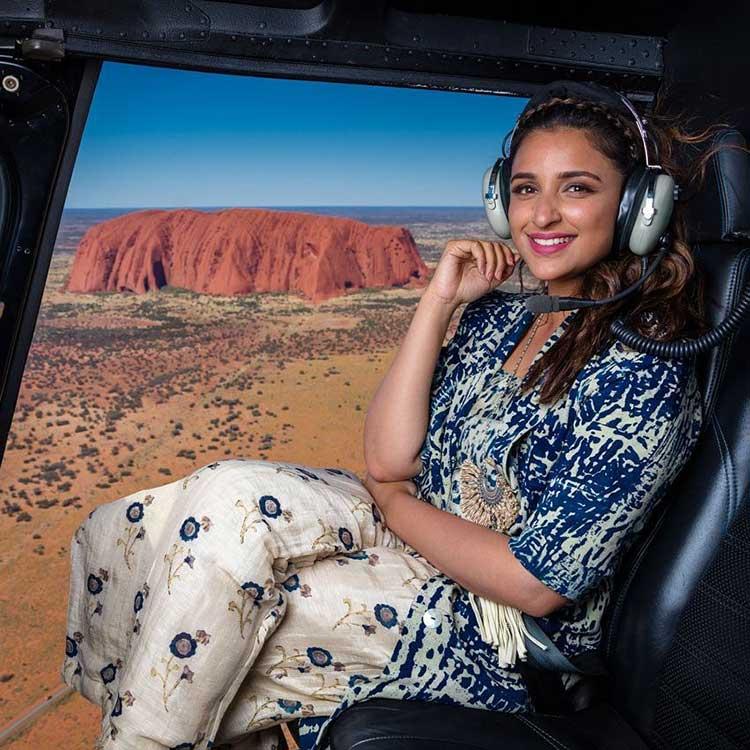 Parineeti Chopra takes a helicopter ride to Uluru