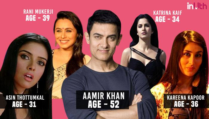 Aamir Khan, Bollywood, Actor, Actress, Age Difference