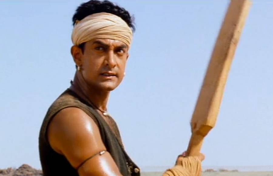 Aamir Khan in a still from Lagaan