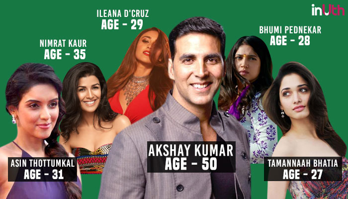 Akshay Kumar, Bollywood, Actor, Actress, Age Difference