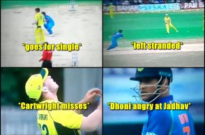 MS Dhoni angry, MS Dhoni loses his cool, MS Dhoni's rare angry moments, Kedar Jadhav, Hilton Cartwright, India vs Australia, Australia vs India, MS Dhoni runout, Marchs Stoinis, cricket videos