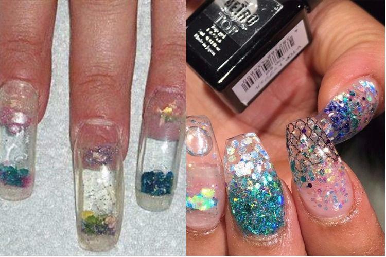Aquarium nail art trend