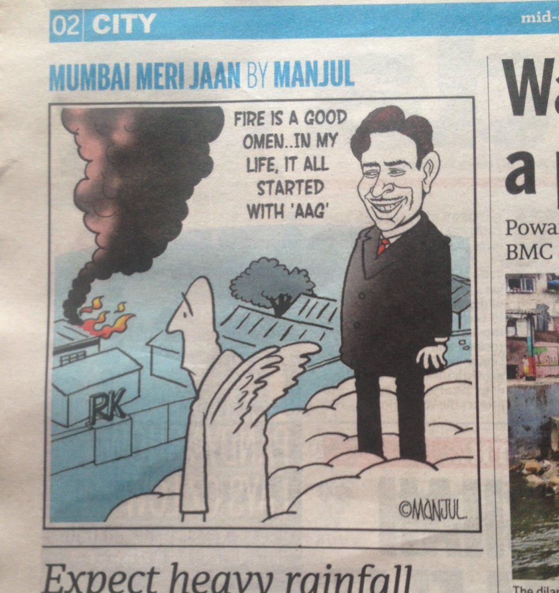 Cartoon published in a leading daily