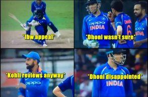 MS Dhoni DRS, Virat Kohli, Indian captain, India vs Sri Lanka 5th ODI, IND vs SL, Decision Review System, Yuzvendra Chahal, Lahiru Thirimanne