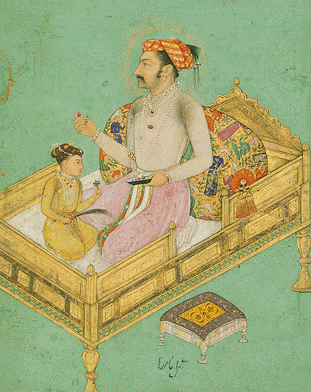 Shah Jahan with his son Dara Shikoh,