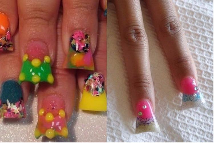 Duck feet nail art