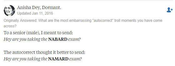 Embarrassing autocorrects
