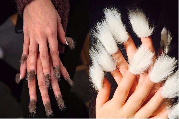Fur nail art trend