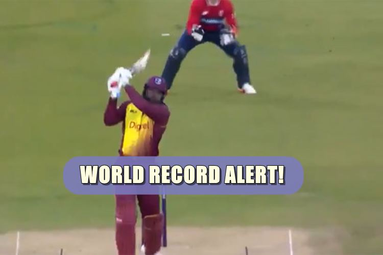 Chris Gayle becomes the first batsman to hit 100 sixes in T20I, does it with a monstrous six | Watch Video