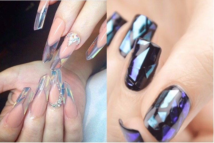 Glass nail art trend
