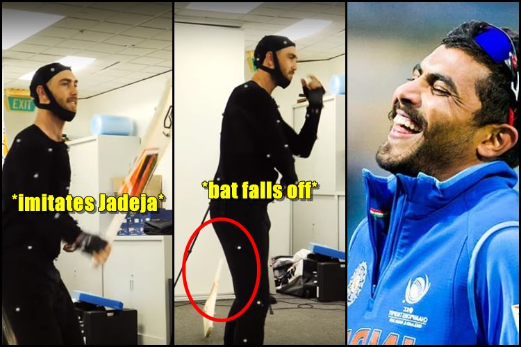 Glenn Maxwell tries to imitate Ravindra Jadeja's sword skills with the bat, ends up trolling himself | WatchVideo