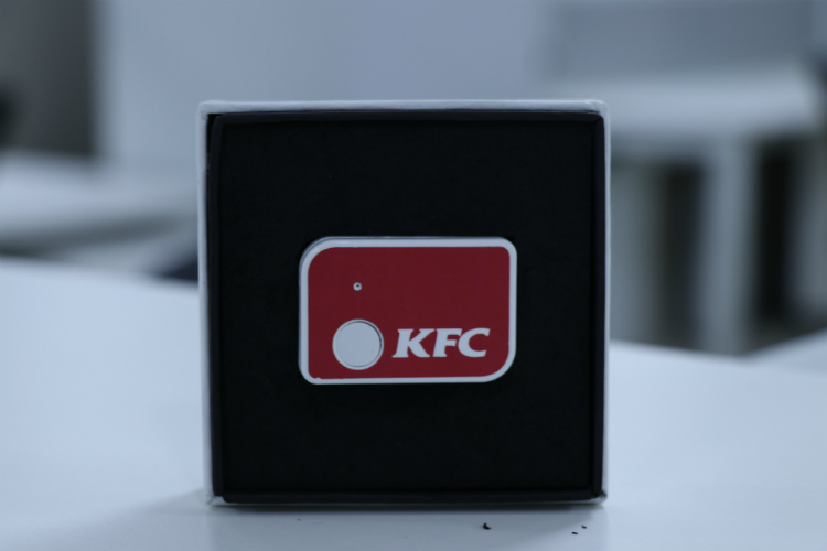 KFC one click button