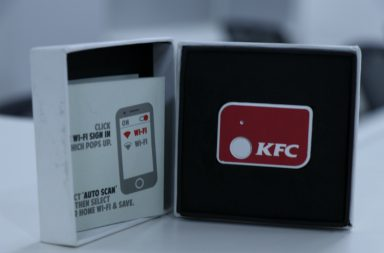KFC one click button