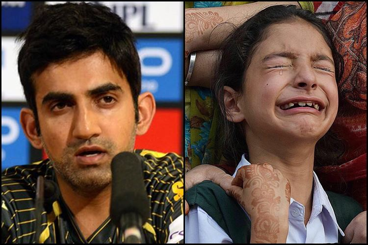 Gautam Gambhir promises to fund education of martyred Kashmiri cop Abdul Rasheed's daughter