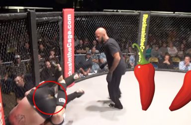 MMA fighter poops in the ring, Travis Wolford, Daniel Cooper, Travis Wolford poops, Travis Wolford shits, Bizaree incidents in MMA, funny incidents in MMA