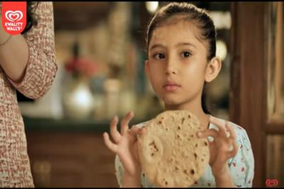 Kwality Walls, Kwality Walls ad, Kwality Walls Ice Cream, Kwality Walls sexist ad, sexist ad, Indian ad, advertising in India, viral ad, sexist ads in India, gender discrimination, Indian society, sexism, patriarchy, round roti, roti, chapati