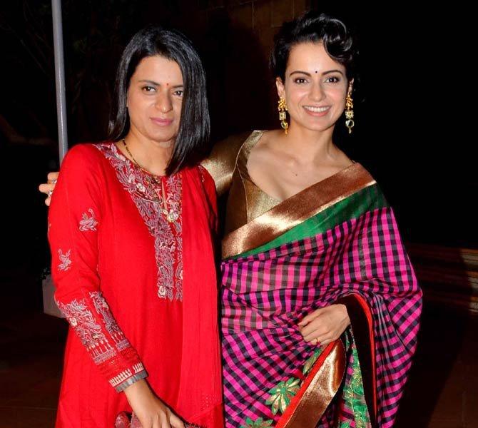 Rangoli Chandel and Kangana Ranaut