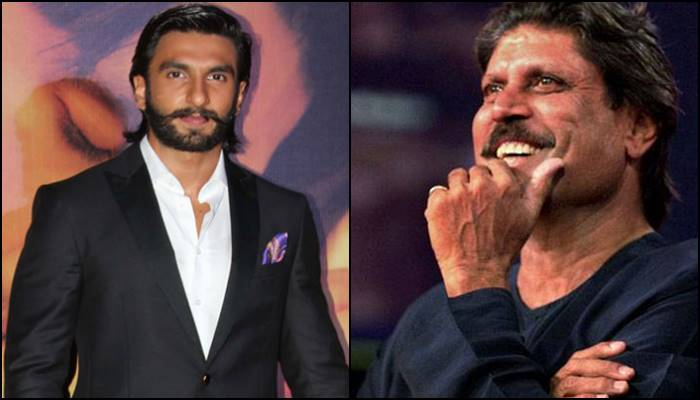 Ranveer Singh and Kapil Dev