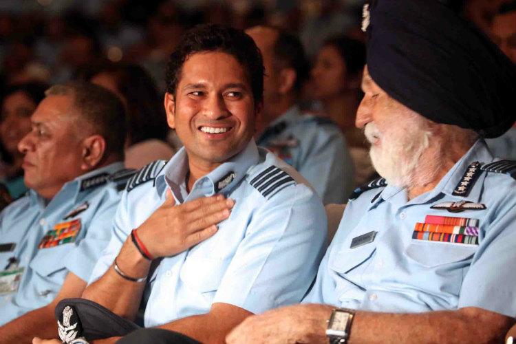 Marshal Arjan Singh, Sachin Tendulkar