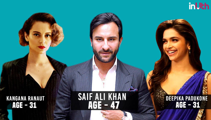 Saif Ali Khan, Bollywood, Actor, Actress, Age Difference