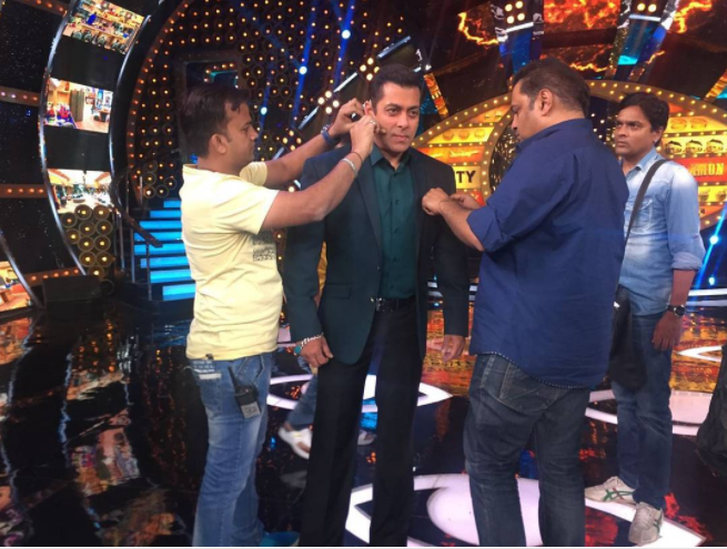 Salman Khan on the set of Bigg Boss