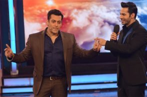 Salman Khan and Varun Dhawan on Bigg Boss
