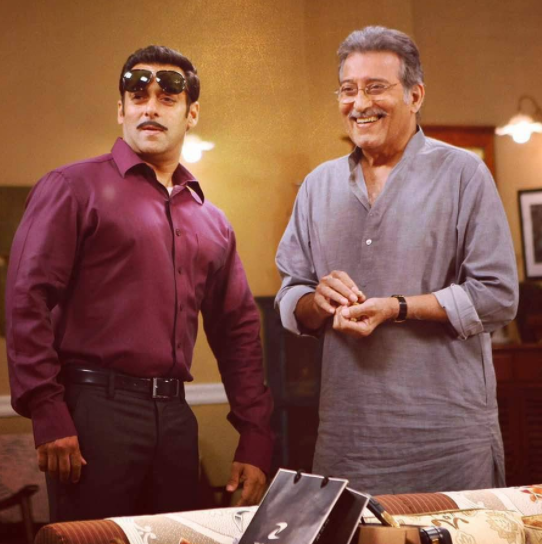 Salman Khan and Vinod Khanna
