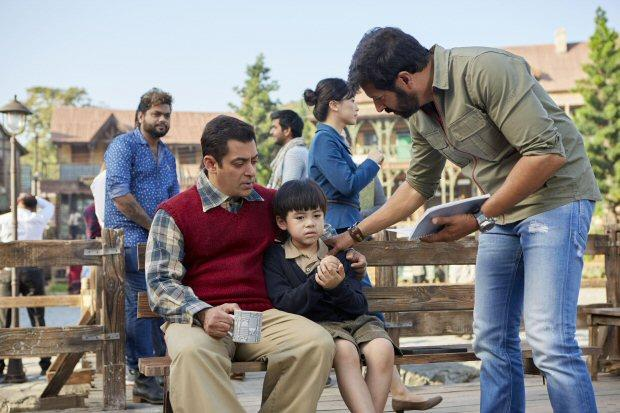 Salman Khan with Matin Rey Tangu and Kabir Khan in Tubelight