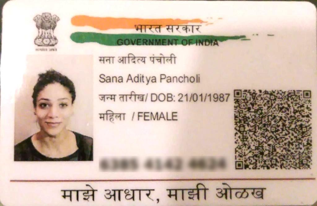 Sana Adhar Card