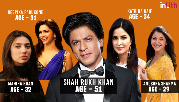 Shah Rukh Khan, Bollywood, Actor, Actress, Age Difference