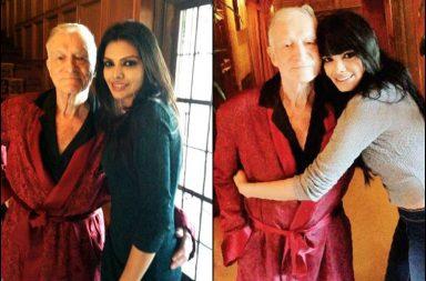 Sherlyn Chopra and Playboy founder Hugh Hefner