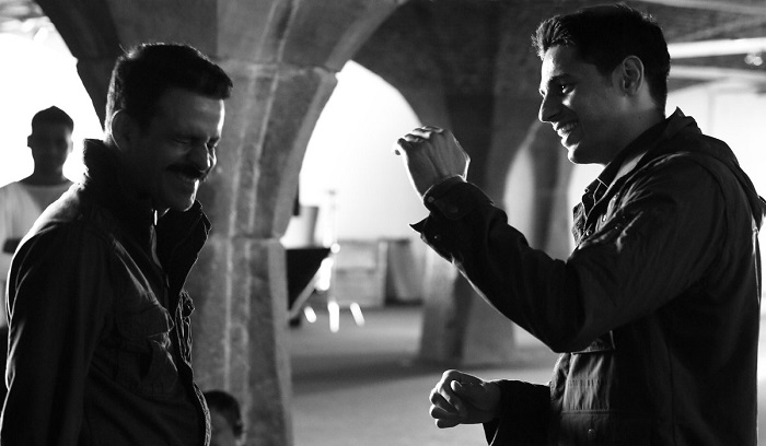 Sidharth Malhotra and Manoj Bajpai in Aiyaari